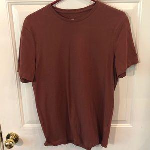 Men's short sleeve maroon t shirt